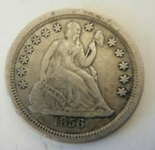 More details for 1856 - seated liberty - one dime - small date - silver coin - usa united states