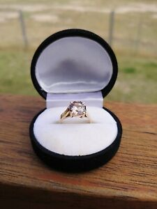 ONE OF A KIND RARE NATURAL 8.68ct HARTS RANGE PINK ZIRCON LADIES GOLD RING