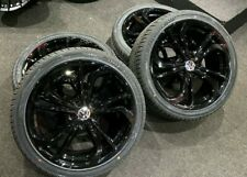 "Ex Display 18"" VW Golf GTI TCR Style Alloy Wheels gloss Black & 225/40/18 Tyres"