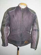 Ladies Harley Davidson Polyester/leather Motorcycle Biker Jacket L UK 12/14