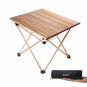 KingCamp Ultralight Compact Folding Camping Aluminum Table with Carry Bag Two...