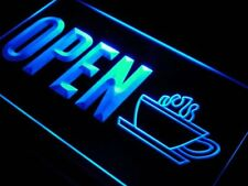 j738-b OPEN Coffee Cup Shop Display Neon Light Sign