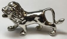 Large Vintage Sterling Silver Lion Good Luck Charm Pendant 925 Big Cat Wild 11G