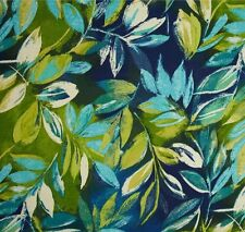 Outdoor/ Indoor ~ Upholstery ~ Tropical Fern on Blue ~ Fabric ~ per 1/4 yard