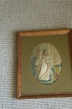 Antique 1800's Silk French Tapestry