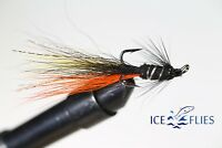 ICE FLIES. Salmon Fly, Snaelda the fly, Treble Hook. (3-pack) Pick a size