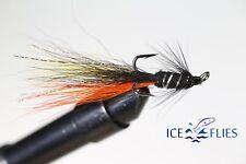 ICE FLIES. Salmon Fly, Snaelda the fly, Treble Hook. (3-pack) Pick a size