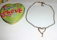 Brighton TUSCAN Silver Plated Heart Necklace w/ Heart Tin NWOT