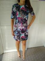 Papaya Weekend Floral Mini Fit And Flare Scuba Dress Size 8