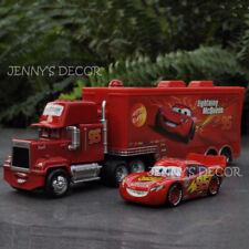 Disney Pixar Cars Diecast Metal Figure McQueen & 95# Mack Super-Liner Truck