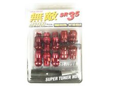 Muteki SR35 Extended Closed Ended Wheel Tuner Lug Nuts Chrome Red 12x1.5mm NEW