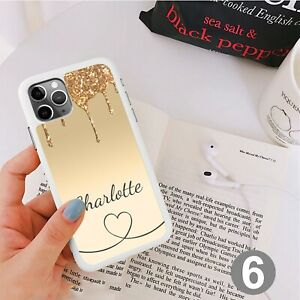 Glitter Heart Phone Case Cover For iPhone Samsung Huawei Google Pixel ETC 164-6