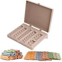Coin Counter Sorter Money Tray – Bundled with 64 Coin Roll Wrappers Bundle – 6 C