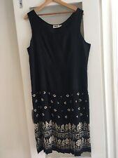 Leslie Fay Summer Sleeveless Black / White Dress 14