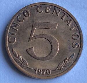 Bolivia 5 Centavos 1970 (KM#187) Key Date 100k Mintage