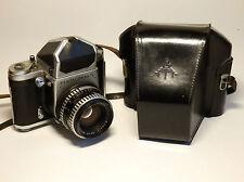 Vtg. Pentacon six TL SLR camera 6x6 Prism v. C. Zeiss Biometar 2,8/80 zebra lens