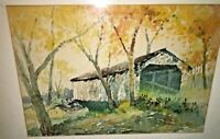 Herbert J Day Brown County Indiana Watercolor Impressionist Bridge 1920s Wow WPA