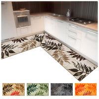 Tappeto cucina bagno felce angolare o passatoia su misura al metro mod.FAKIRO37