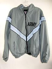 Army PFU Reflective Physical Fitness Coat M Grayish Green PT Jacket Full Zip
