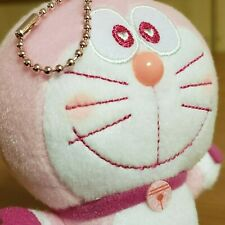 Doraemon Pink Hearts Plush Beanie Toy Doll Charm Goes everywhere with you