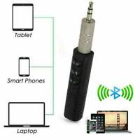 UK Bluetooth 5.1 AUX Receiver 3.5mm Phone Car Stereo Earphones Adapter with Mic