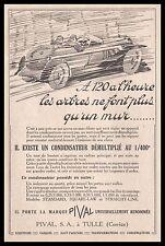 Publicité PIVAL  Accessoires   Automobile car photo vintage  ad  1927 - 10h
