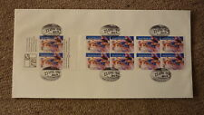 1996 Australian Football Centenary Fdc, Sheet Of 10 Stamps, Western Bulldogs