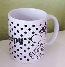 """TAZZA da caffè/tazza di caffè/tazza/""""SNOOPY """"CANE/PORCELLANA BIANCO punti"""