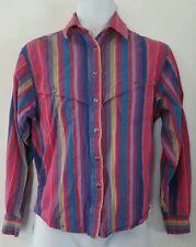 Womens Vintage 1970s Wrangler Authentic Western Apparel Aztec Blanket shirt M