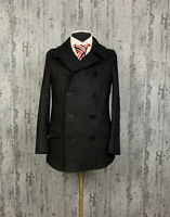 Like new! Men`s Ralph Lauren Polo Wool Double Breasted Pea Coat Jacket Size M