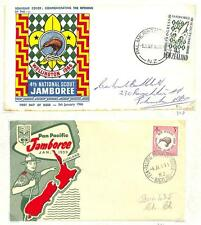 NEW ZEALAND BOY SCOUTS SCOTT #326 & 378 STAMPS ON FDC FIRST DAY COVERS