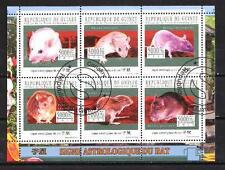 Animaux Rats Guinée (120) série complète 6 timbres oblitérés