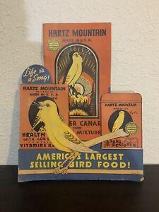 Hartz Mountain Bird Food Counter Easel Sign