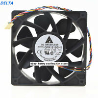 Delta AFB1212SHE 120mm x 38mm 4-Pin PWM Fan Server Case Water Cooling 151 CFM