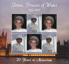 Papua New Guinea 2017 MNH Princess Diana 20th Memorial 6v M/S II Royalty Stamps