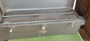 "Vintage 30"" craftsman metal tool box with tray #433"