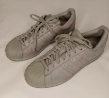 Adidas SUPERSTAR Grey Leather Lace Up Shell Toe Low Top Shoes Men's Size 8.5
