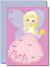Fairy Fill-In - Girls Invitations w/ Matching Envelopes & Magnets Pack of 8