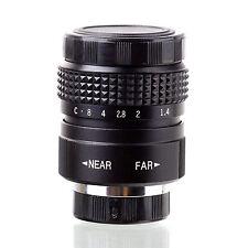 Fujian 25mm f/1.4 CCTV cine lens for M4/3 / MFT Mount Olympus Panasonic black .