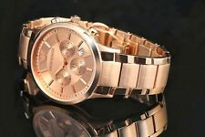 Emporio Armani AR-2452, Full Rose Gold Chronograph watch for Men