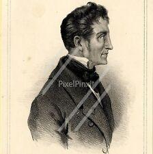 Portrait de Charles Nodier - Lithographie originale XIXème