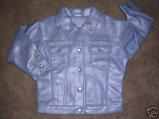 2T light blue faux leather/embroidered jacket/coat  NEW
