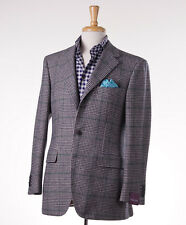 NWT $2795 SARTORIA PARTENOPEA Blue-Green Glen Check Soft Wool Sport Coat 38 R