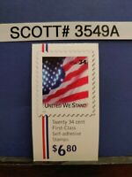 Scott # 3549A-United We Stand-Booklet of (20) 34 Cent Stamps