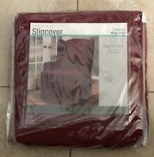 Maytex Canvas Wing Chair Slipcover, Red