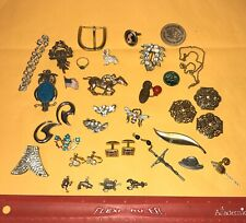 Vintage Junk Drawer Jewelry Lot Sterling Silver Charms Napier Disney Gerry's++