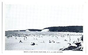 Beach at Fair Haven State Park, NY on Lake Ontario Postcard *5N24