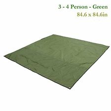 Outdoor Thickened Camping Shelter Tent Tarp Canopy Cover Mat Green