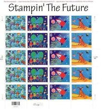 Stampin' the Future 33 cent Stamp Sheet Pane 20 3414-3417 2000 Mint NH Free
