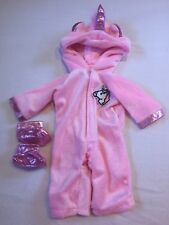MY FIRST BABY ANNABELL PINK DOLL CLOTHES UNICORN OUTFIT JUMPSUIT